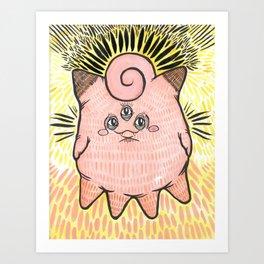 squid cat clefairy Art Print