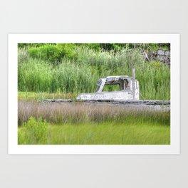 Marsh Boat Art Print