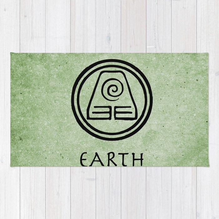 Avatar Last Airbender Elements Earth Rug By Briandublin Society6