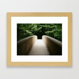 Redwood Bridge Framed Art Print