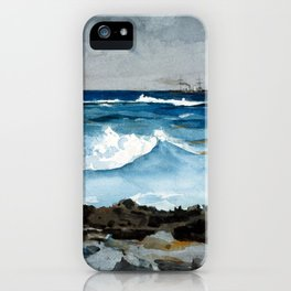 Winslow Homer Shore and Surf, Nassau iPhone Case