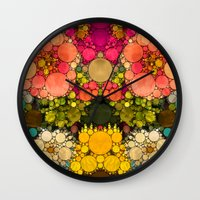 discount Wall Clocks featuring Perky Flowers! by Love2Snap