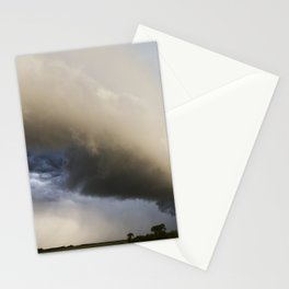 Shelf Cloud Over Country Road 3 Stationery Cards
