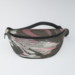 Heavy Metal Music Abstract - Black White Red - Corbin Henry Fanny Pack
