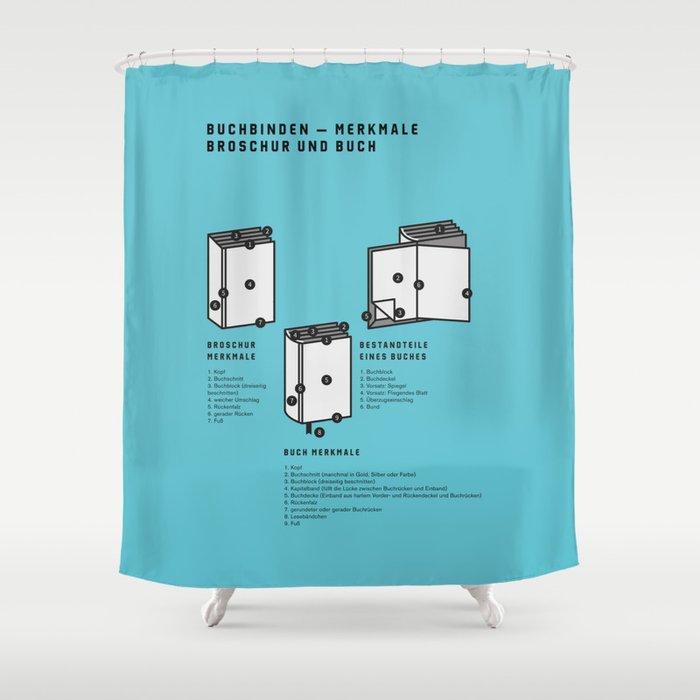Buchbinden – Merkmale Broschur und Buch (in German) Shower Curtain