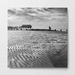 Couple on Cleethorpes Beach Metal Print