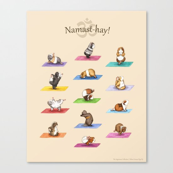 The Yoguineas Collection - Namast-hay! Canvas Print
