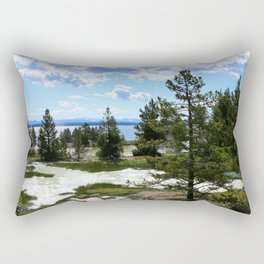 West Thumb Yellowstone Lake Rectangular Pillow