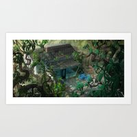 florida Art Prints featuring Florida by Ryan Smith