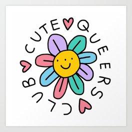 Cute Queers Club Art Print