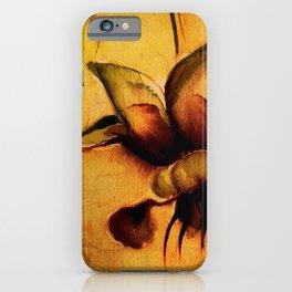 Cupuaçu flower watercolor - Brazilian tropical fruit iPhone Case