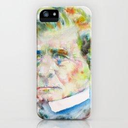 HECTOR BERLIOZ - watercolor portrait iPhone Case