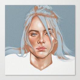 Falling Into Your Ocean Eyes, Billie Eilish Canvas Print