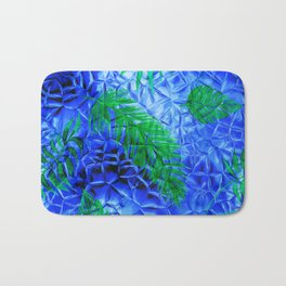 in the blue fern Bath Mat