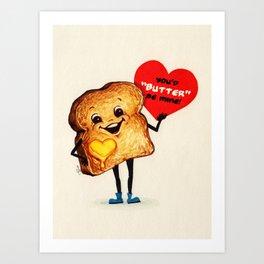 Valentine- Toast Art Print