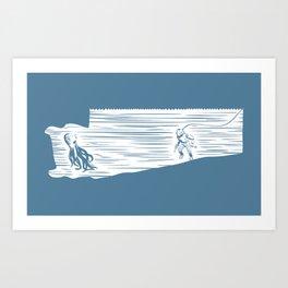 Deep Seasaw Diver Art Print