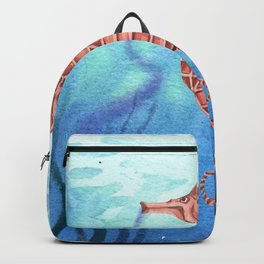 Beautiful Underwater Sea horse Backpack