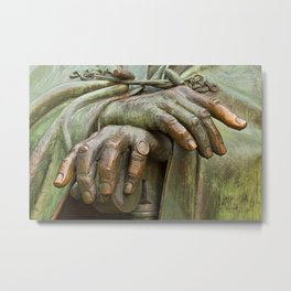 Hands of Wisdom Metal Print