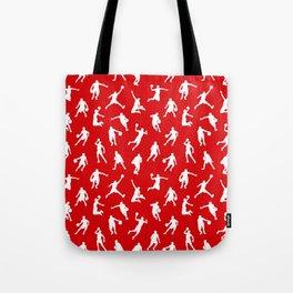 Basketball Players // Red Tote Bag