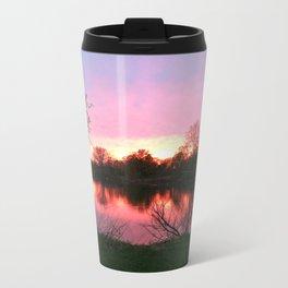 Sunset on St. Mary's Lake Notre Dame Metal Travel Mug