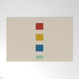 four elements || tweed & primary colors Welcome Mat