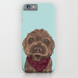 Remington the Wirehaired Pointing Griffon iPhone Case