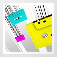 cassette Art Prints featuring Cassette by Delaney Digital