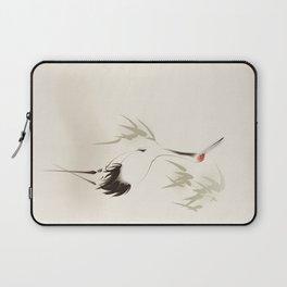 Oriental Red-Crowned Crane 001 Laptop Sleeve