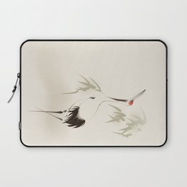 Oriental Red-Crowned Crane 001 Laptop Sleeve
