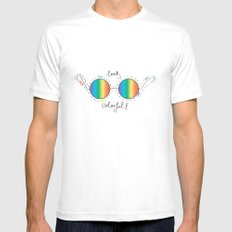 Colorful Mens Fitted Tee MEDIUM White