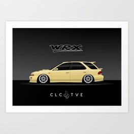 Blaze Yellow GF8 WRX Art Print