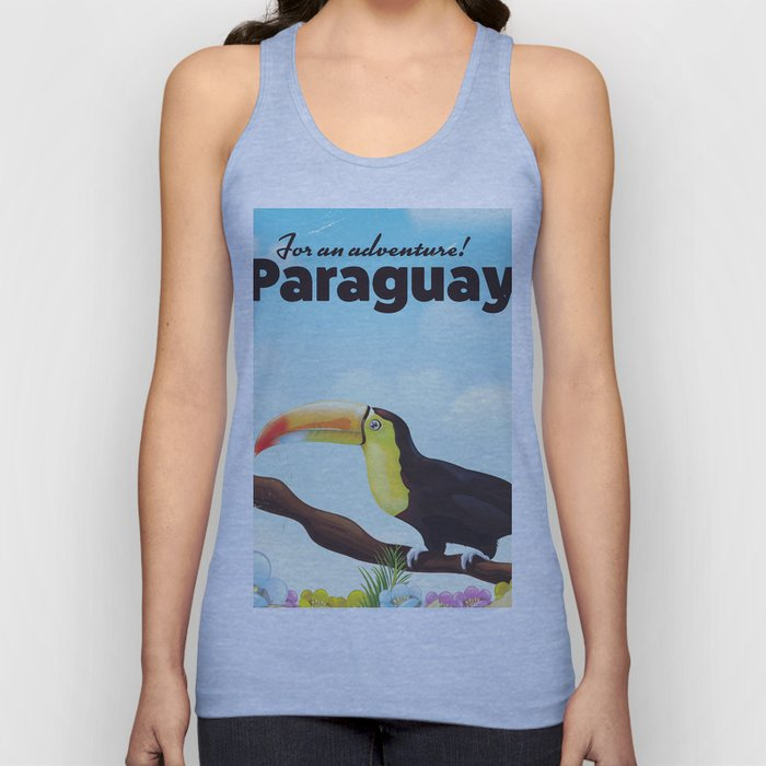 Paraguay Toucan travel poster Unisex Tank Top