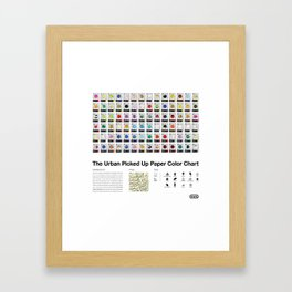 The Urban Picked Up Paper Color Chart Framed Art Print