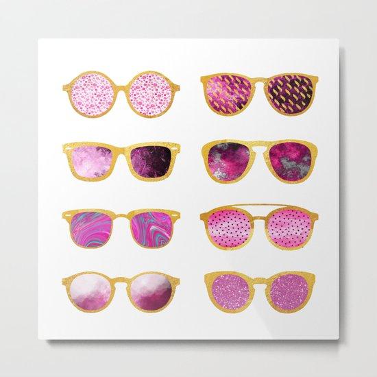 Vintage sunglasses Metal Print