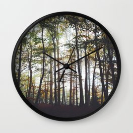 Autumn Forest Trees Wall Clock