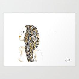 yellow rasta Art Print