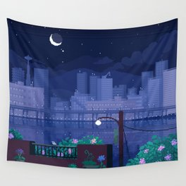 Seattle Nights Wall Tapestry