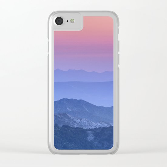 """Mountain dreams"". At sunset. Clear iPhone Case"