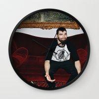 kevin russ Wall Clocks featuring Kevin by moriahaslan