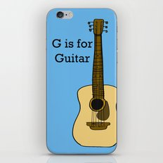 G is for Guitar iPhone & iPod Skin