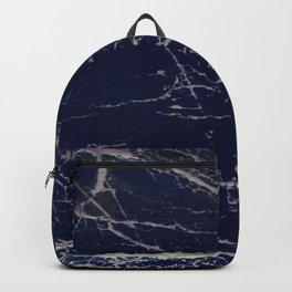 Blue Marble Crease Texture Design Backpack