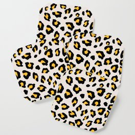 Leopard Print - Mustard Yellow Coaster