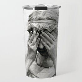 Weeping Angel Watercolor Painting Travel Mug