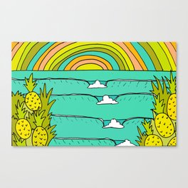 pineapple fields and endless summer vibes Canvas Print