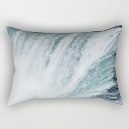 Landscape Photography | Niagara Falls | Waterfall | Aqua | Mist | Fog | Blue | Marine Rectangular Pillow