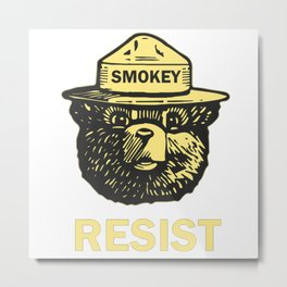 smokey resist Metal Print