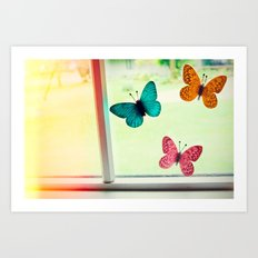 Butterflies On My Window Art Print