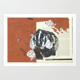 Old English Badger Art Print