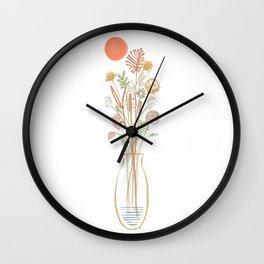 Abstract Flower in a bottle II Wall Clock