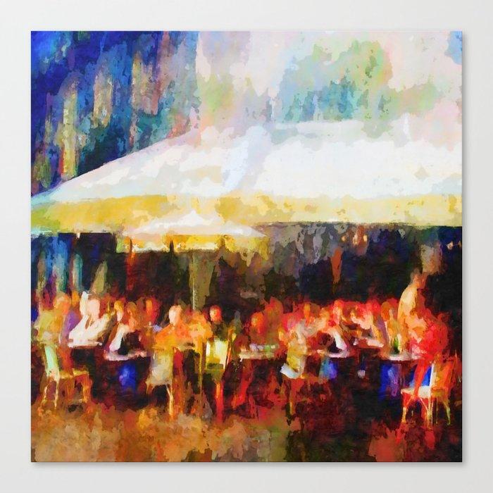 Le café Canvas Print